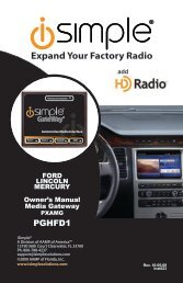 Expand Your Factory Radio - PAC Audio