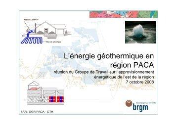 L'énergie géothermique en région PACA