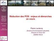 Réduction des PCB : enjeux et démarches en cours