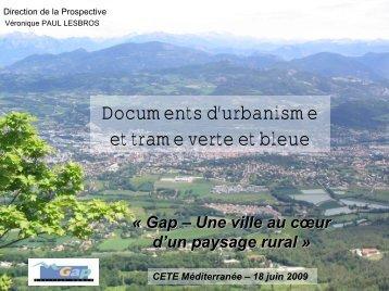 Documents d'urbanisme et trame verte et bleue