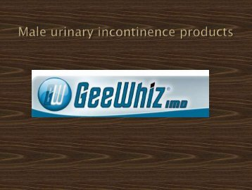 Male urinary incontinence products