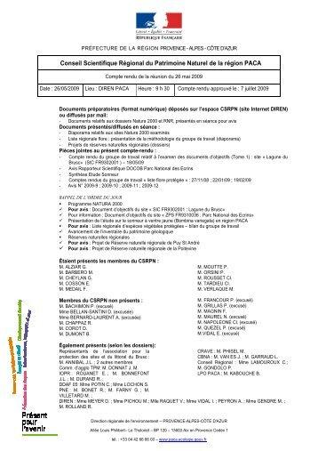 CR CSRPN du 26 mai 2009_et_avis - DREAL Paca