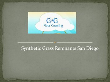 Synthetic Grass Remnants San Diego