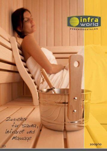 Zubehör für Sauna, lnfrarot und Massage