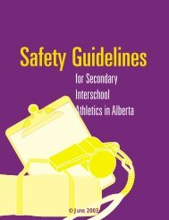 for Secondary Interschool Athletics in Alberta - Alberta Centre for ...