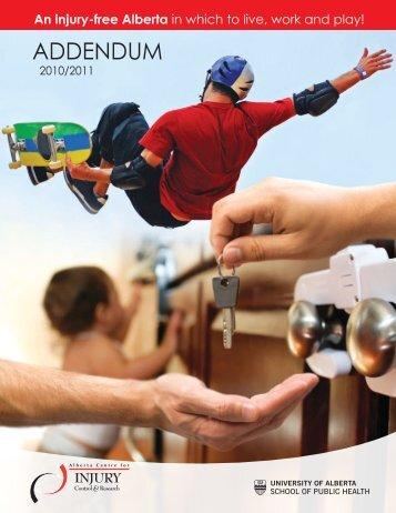 ACICR 2010-2011 Annual Report Addendum - Alberta Centre for ...