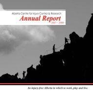 ACICR 2007 -2008 Annual Report - Alberta Centre for Injury Control ...