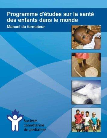 Manuel du formateur - Canadian Paediatric Society