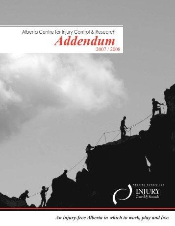 ACICR 2007 -2008 Annual Report Addendum - Alberta Centre for ...