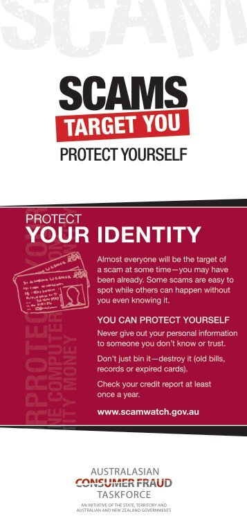 Protect your identity - SCAMwatch