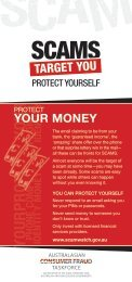 Protect your money - SCAMwatch