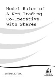 Model Rules - Non Trading Cooperative (with Shares) - Consumer ...