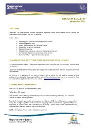 Security Bulletin November 2011 - Consumer Affairs and Fair Trading