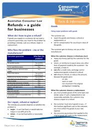 Refunds – a guide for businesses - Consumer Affairs and Fair Trading