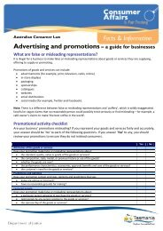 Advertising and promotions – a guide for businesses - Consumer ...