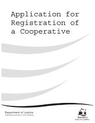 Application for Registration of a Cooperative - Consumer Affairs and ...
