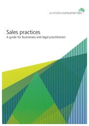 Sales practices - Consumer Affairs and Fair Trading