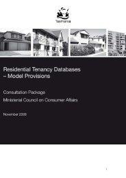 RTD Consultation Explanatory Paper - Consumer Affairs and Fair ...