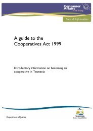 Guidelines to the Cooperatives Act 1999 - Consumer Affairs and Fair ...