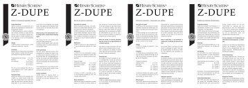 Z-Dupe IFU2 - Henry Schein Corporate Brand