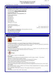Fiche de données de sécurité - Henry Schein Corporate Brand