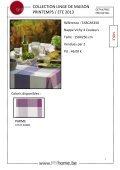 collection de linge de maison printemps / été 2013 - Meyhui - Page 2