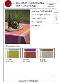collection de linge de maison printemps / été 2013 - Meyhui - Page 3