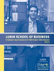 Lubin School of Business Application for Admission - Pace University