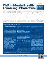 Learn more about the curriculum and admission ... - Pace University