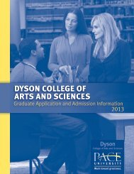 Dyson College of Arts and Sciences Application for - Pace University
