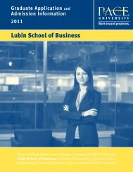 Lubin School of Business - Pace University