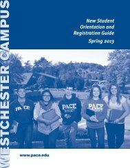 Orientation and Registration Guide - Pace University