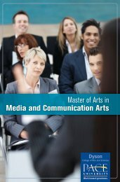 Master of Arts in Media and Communication Arts - Pace University