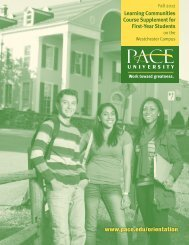 Learning Communities - Pace University
