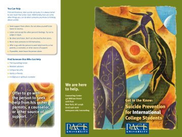Get in the Know: Suicide Prevention for International College Students