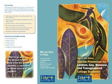 Suicide Prevention for Lesbian, Gay, Bisexual, and Transgendered ...