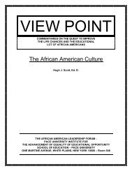 The African American Culture - Pace University