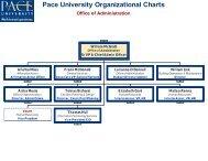 Pace University Organizational Charts