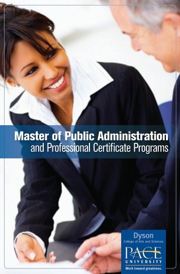 Master of Public Administration and Professional ... - Pace University