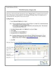 Web File System: wfs.pace.edu - Pace University