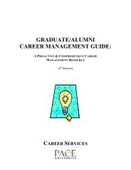 Career Management Guide - Pace University