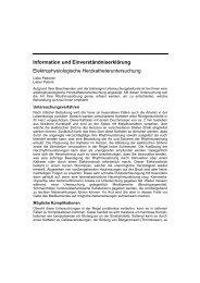 Information und Einverständniserklärung Elektrophysiologische ...