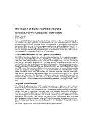 Information und Einverständniserklärung Einpflanzung eines ...