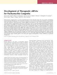 Development of Therapeutic siRNAs for Pachyonychia Congenita