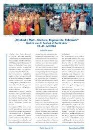 Bericht vom 9. Festival of Pacific Arts, Palau, 22.-31. Juli 2004