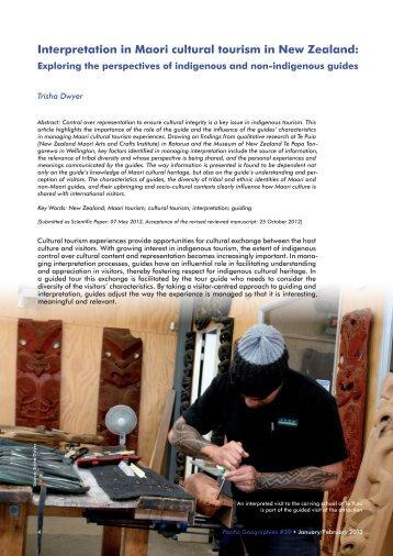 Interpretation in Maori cultural tourism in New Zealand: - Pacific ...