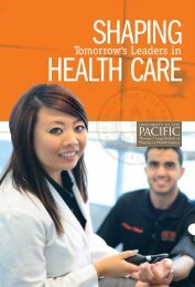 Tomorrow's Leaders in - University of the Pacific
