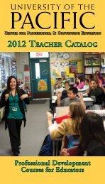 Professional Development Courses for Educators - University of the ...