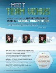 Team Venus Takes on Supercomputing World - University of the ...