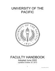 Downloadable PDF copy of the Faculty Handbook - University of the ...